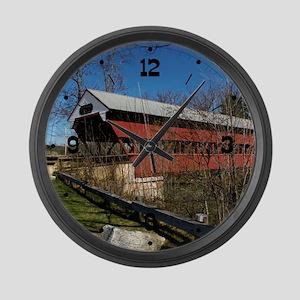 Swift River Bridge Large Wall Clock