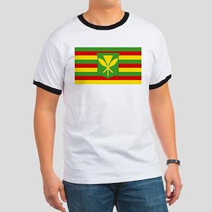 Kanaka Maoli Flag Ringer T