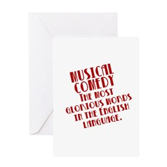Musical Comedy Note Cards (blank inside)