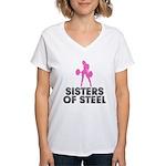 Sisters of Steel Women's V-Neck T-Shirt
