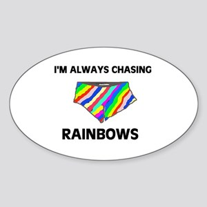 CHASING CHASING CHASING! Oval Sticker