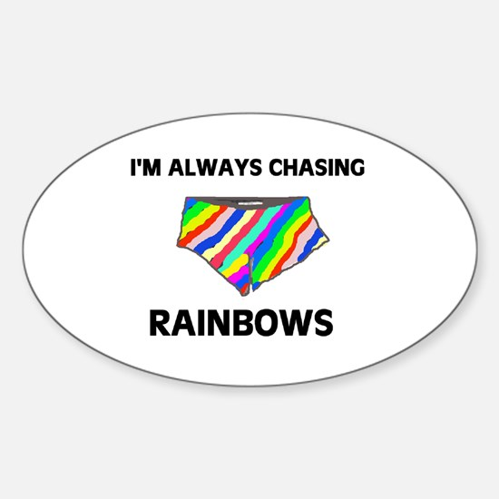 CHASING CHASING CHASING! Oval Decal