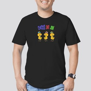 Chicks Dig Jon Men's Fitted T-Shirt (dark)