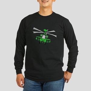 AH-64 Long Sleeve Dark T-Shirt