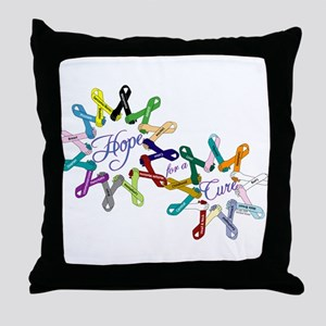 Hope For A Cure Throw Pillow
