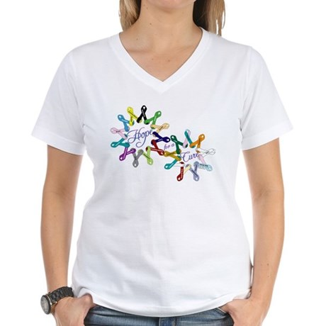 Hope For A Cure Women's V-Neck T-Shirt