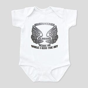 Shawangunks Climbing Chrome Wings Infant Bodysuit