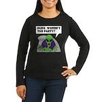 ALIEN PARTY Women's Long Sleeve Dark T-Shirt