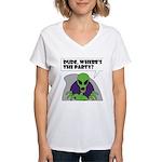 ALIEN PARTY Women's V-Neck T-Shirt