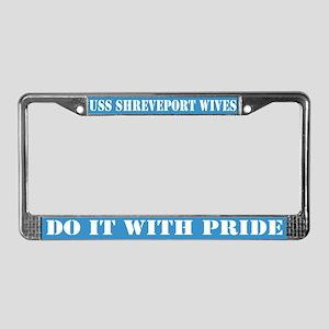 uss shreveport wives License Plate Frame
