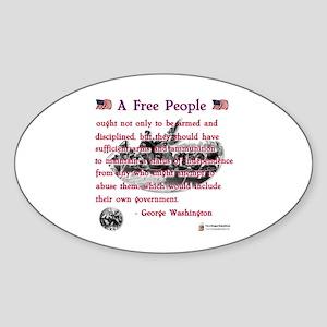 A Free People Oval Sticker
