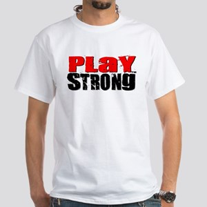 Play Strong Classic White T-Shirt