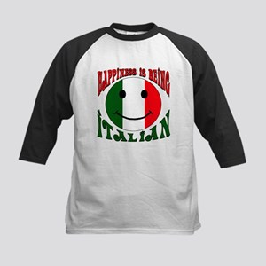 Happiness is being Italian Kids Baseball Jersey