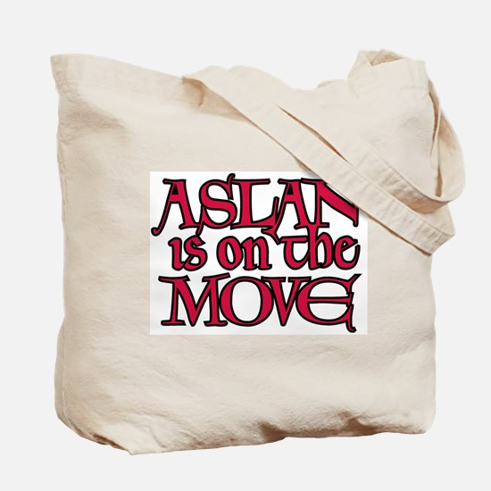 Aslan Is On The Move Tote Bag