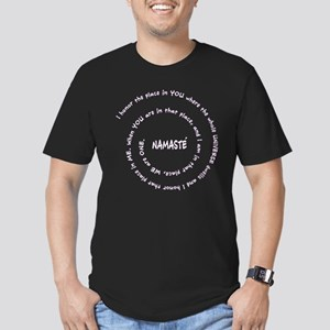 Namaste Meaning in Sacred Spiral Men's Fitted T-Sh