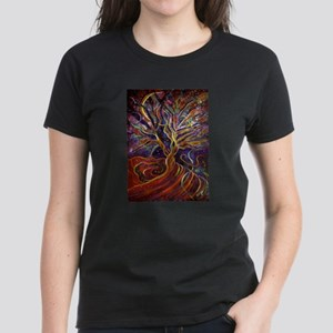 Aura Energy Tree Women's Dark T-Shirt