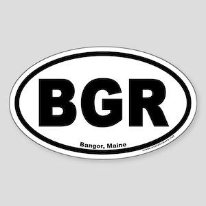 Bangor Maine BGR Euro Oval Sticker