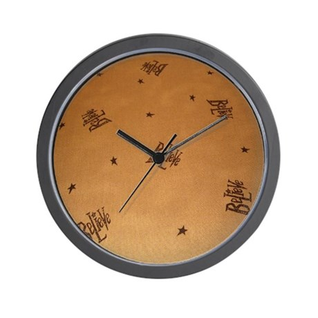 Mustard Believe Stars Wall Clock