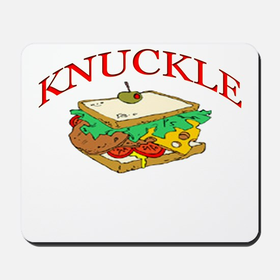Funny Knuckle Sandwich design Mousepad
