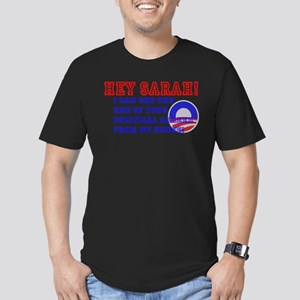 Barrack Obama Speaks to Sarah Men's Fitted T-Shirt
