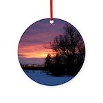 Winter Sunset 0020 Ornament (Round)