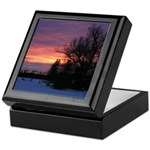 Winter Sunset 0020 Keepsake Box