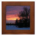 Winter Sunset 0020 Framed Tile