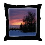 Winter Sunset 0020 Throw Pillow