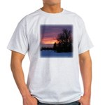 Winter Sunset 0020 Ash Grey T-Shirt