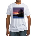 Winter Sunset 0020 Fitted T-Shirt