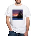 Winter Sunset 0020 White T-Shirt