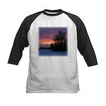 Winter Sunset 0020 Kids Baseball Jersey