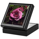 Red Castera rose #1B photo drawing on Keepsake Box