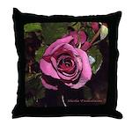 Castera Rose #1B photo drawing art - Throw Pillow