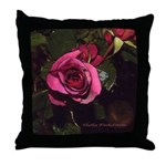 Castera Rose #1A photo drawing - Throw Pillow