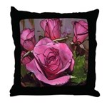 Castera Red Rose #6 Photo Drawing Throw Pillow