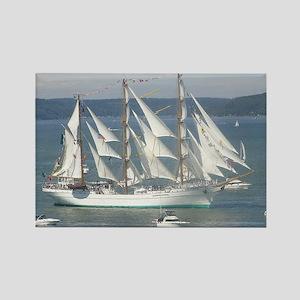Spanish Sailing Ship Rectangle Magnet