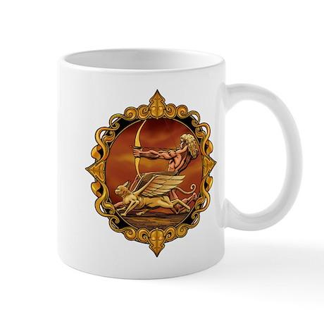 Greek Archer and Mythical Cat Mug
