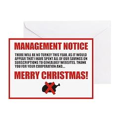 No Turkey Christmas Cards (Pk of 10)