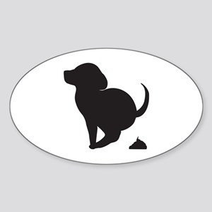 Doggy Accident Oval Sticker