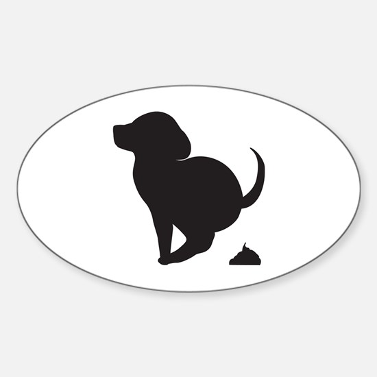 Doggy Accident Oval Decal
