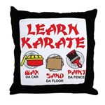 Learn Karate Throw Pillow