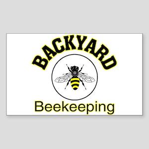 Backyard Beekeeping Rectangle Sticker