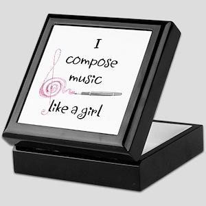 I compose music like a girl Keepsake Box