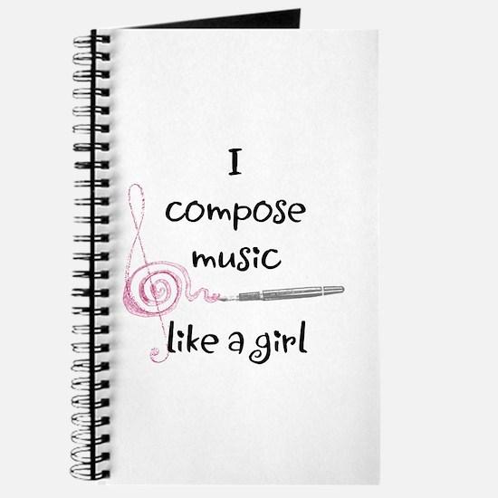 I compose music like a girl Journal
