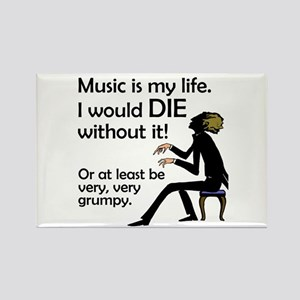 Music Is My Life Rectangle Magnet