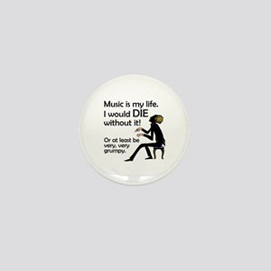 Music Is My Life Mini Button