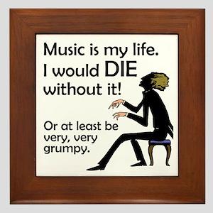 Music Is My Life Framed Tile