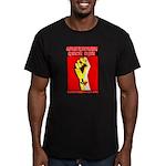 Texas Rock Fist - Men's Fitted T-Shirt (dark)