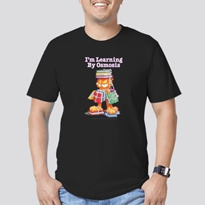 Garfield Learning by Osmosis Men's Fitted T-Shirt